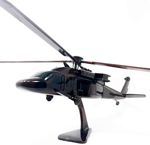 Blackhawk Replica Helicopter Model Hand Crafted Real Mahogany Wood