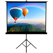 Famirosa Projector Screen with Foldable Stand Tripod,100 Inch Diagonal HD 4:3 Pull Up Portable Indoor Outdoor Movie Projection Screens,for Home Theater Cinema Party Office Presentation