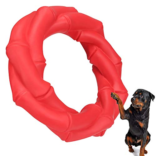 WINGPET Indestructible Dog Chew Toys, Durable Rubber Dog Teething Toys Chew Ring for Medium and Large Dogs, Tough Dog Toys for Teeth Cleaning, Great for Pets Interactive Play, Exercise and Training -