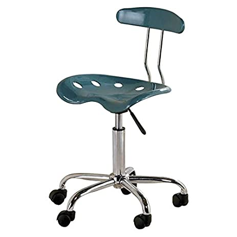 Attrayant Computer Task Chair With Tractor Seat, Teal