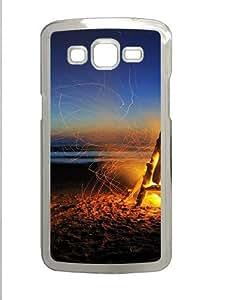 Samsung Galaxy Grand 2 Case - Beach Bonfire Custom Samsung Galaxy Grand 2 Case Cover - Polycarbonate - Transparent