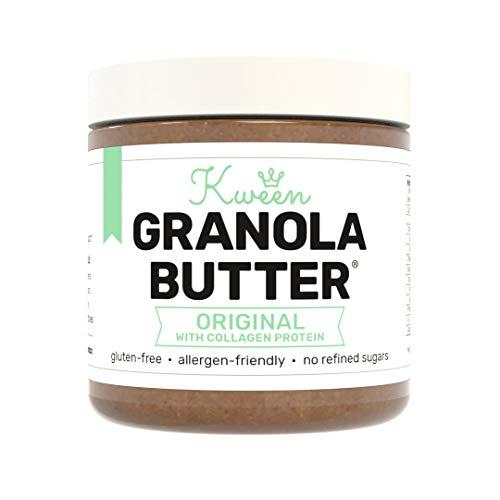 Kween Collagen Protein Granola Butter (1 Jar)   Tree Nut Free, Peanut Free, and Allergen Friendly Snack Spread