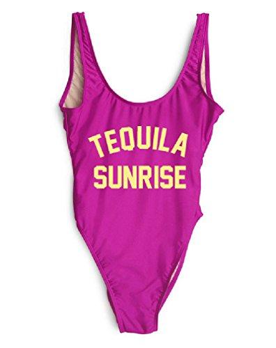 HK One Piece Swimsuit Tequila Sunrise Swimwear Sexy Bodysuit Summer Jumpsuits Maio Beachwear]()