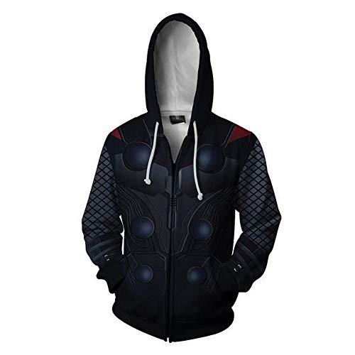 Super Hero Thor Hoodie Jacket Zipper Fashion Sweater Halloween Costume Unisex]()