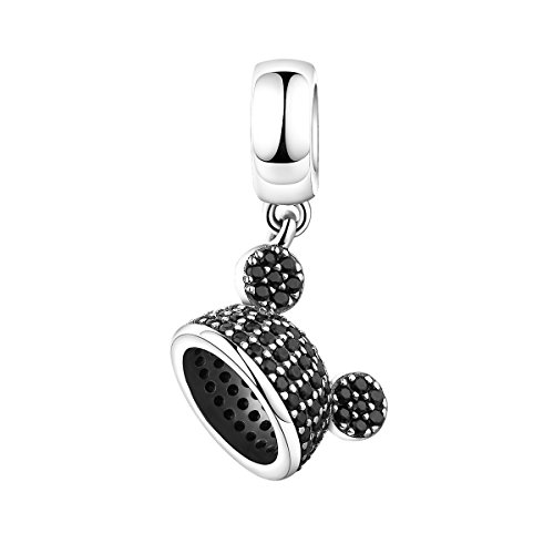Lovly Mouse Charms Silver Women Charms 925 Sterling Silver Charms for Bracelets Necklace Girls ()