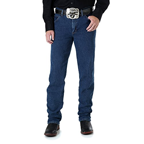 Wrangler Men's Big Advanced Comfort Cowboy Cut Jean, Mid Stone, 46x30 Cowboy Cut Stretch Denim Jean
