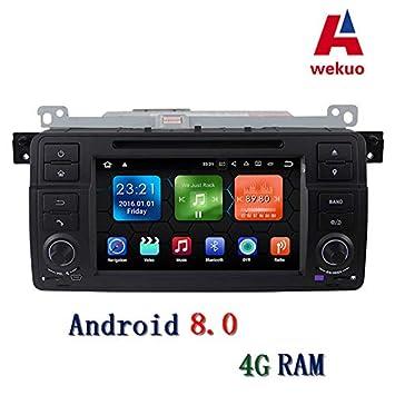 """Wekuo 7"""" Android 8.0 4G RAM Coche DVD Reproductor GPS navegación para BMW E46 3"""
