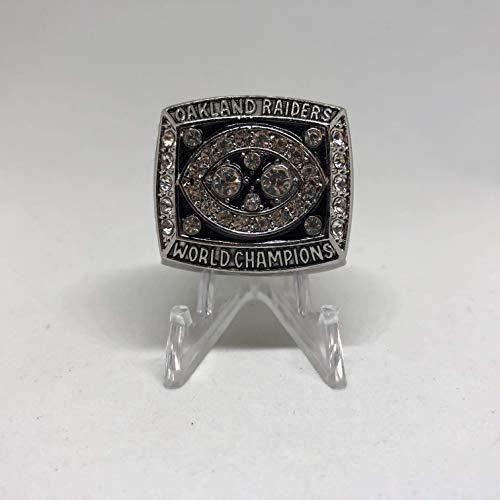 MVP Jim Plunkett Oakland Raiders High Quality Replica 1980-81 Super Bowl XV Championship Ring Size 11-Silver US SHIPPING