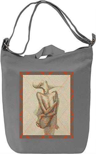 Native Man Borsa Giornaliera Canvas Canvas Day Bag  100% Premium Cotton Canvas  DTG Printing 