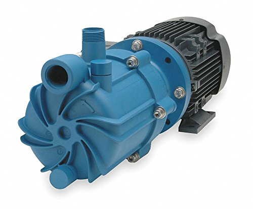 Magnetic Drive Pressure Pump - Finish Thompson SP10P-3-M218 Centrifugal Magnetic Drive Pump, Polypropylene, 1 HP, 115/208-230V, 1 Phase, 62.9 Max Feet of Head, 55.1 gpm