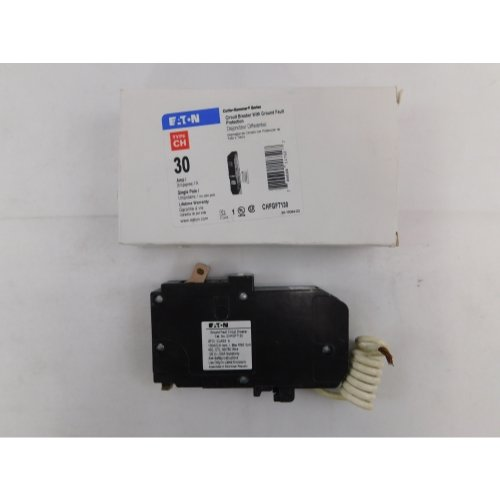 Eaton CHFGFT130 Plug-In Mount Type CH Ground Fault Circuit Breaker 1-Pole 30 Amp 120 Volt AC