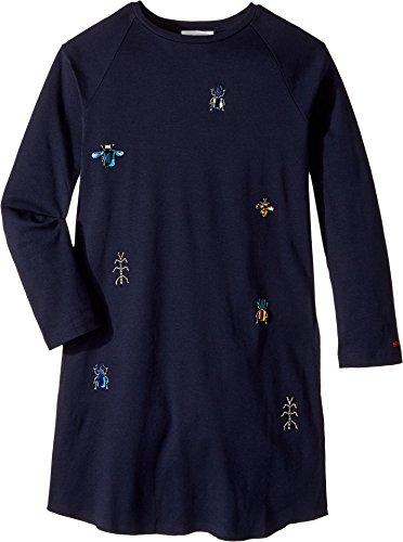 Sonia Rykiel Kids Girl's Long Sleeve Dress w/ Embellished Insect Design (Big Kids) Night 8 by Sonia Rykiel Kids