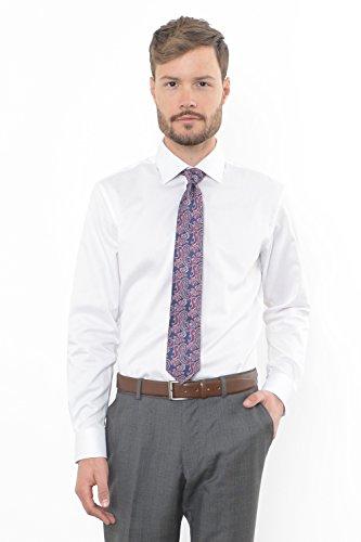 Combatant Gentlemen Men's Athletic Fit Dress Shirt Semi-Spread Collar 17-17 ½-36/37 17-17 ½ - 36/37 White