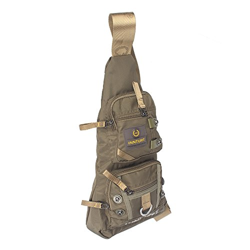 Innturt Nylon Sling Bag Daypack Travel Gym Backpack (S1-Army Green) by Innturt (Image #2)
