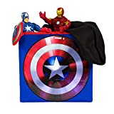 Everything Mary Captain America Collapsible Storage Bin by Marvel - Cube Organizer for Closet, Kids Bedroom Box, Playroom Chest - Foldable Home Decor Basket Container with Strong Handles and Design