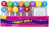Rainbow Happy Birthday Cake Decoration Topper Picks with Candles