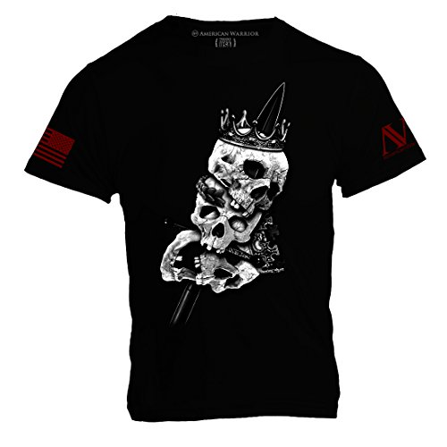 Heads of Kings Mens T Shirt - American Warrior Collection X-Large Black (King Size Head)