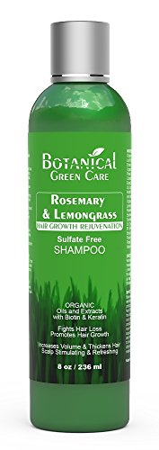 """Hair Growth/Anti-Hair Loss Premium OrganicSulfate-Free Shampoo""""Rosemary & Lemongrass"""" Natural Therapy and Alopecia Prevention. by Botanical Green Care"""