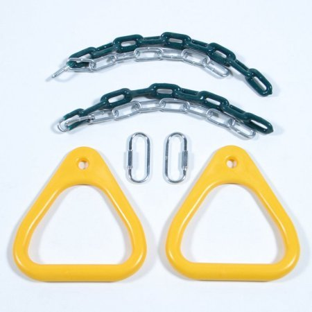 Gym Rings Comfortable Teardrop Shape Specifically Sized For a Child's Grip by Playstar