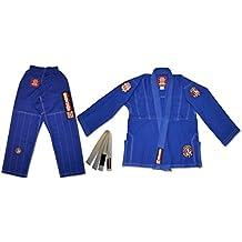 ROLL HARD Kids Brazilian Jiu Jitsu Kimonos Blue