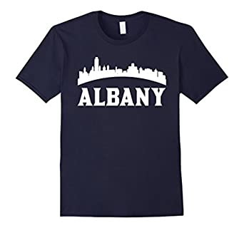 vintage style skyline of albany ny t shirt