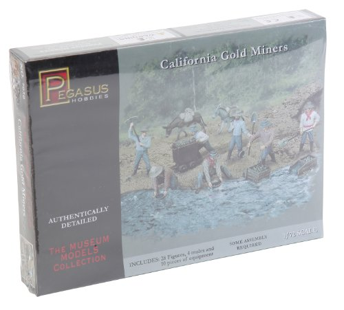 1/72 Gold Rush Miners from Pegasus Hobby