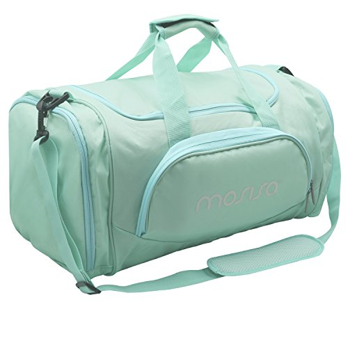 Hot Sports Camping Shoulder Sport Foldable Gym Lightweight Athletic Travel MOSISO Fabric Blue Overnight Bag Duffels Polyester Bag Z4gxnxH1