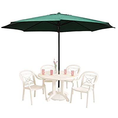 "GHP 13Ft Green Aluminum UV Protective Anti-fade 180D Polyester Patio Umbrella - Color: Green Dimensions: 13 feet in diameter, the largest in the market. Pole Measurement: 100"" Length x 2 "" Diameter - shades-parasols, patio-furniture, patio - 41RmeqMCUdL. SS400  -"
