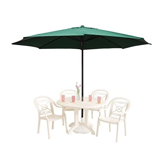 "GHP 13Ft Green Aluminum UV Protective Anti-fade 180D Polyester Patio Umbrella - Color: Green Dimensions: 13 feet in diameter, the largest in the market. Pole Measurement: 100"" Length x 2 "" Diameter - shades-parasols, patio-furniture, patio - 41RmeqMCUdL. SS570  -"