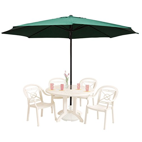 Cheap GHP 13Ft Green Aluminum UV Protective Anti-fade 180D Polyester Patio Umbrella