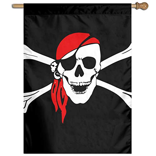 MINIOZE Flag Pirate Skull and Crossbones Themed Welcome Extra Big Large Jumbo for Outdoor Outside Decorations Ornament Picks Garden Yard Traditional Decorative Front 27