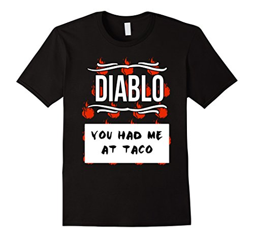 Mens GROUP HALLOWEEN COSTUME T-shirt - DIABLO HOT SAUCE Shirt Medium (Diablo Costume)