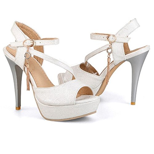 12 silver Sandali 2 Heels Moda Zanpa Donna 5CM TwI4Rxq8