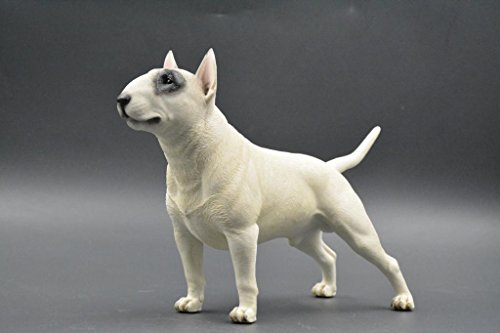 (Pit Bull Terrier Sculpture | Hand-made and painted | Pet Portrait Dog Statue Figurine Memorial | Pit Bull Terrier Collectibles | Pit Bull Terrier Art (black&white))
