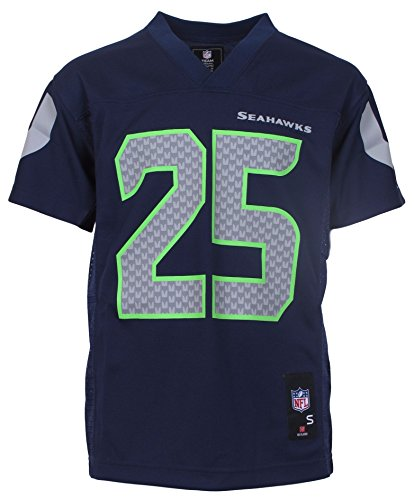 Seattle Seahawks Jersey (Richard Sherman Seattle Seahawks Navy Blue NFL Youth Mid-tier Jersey (Large)