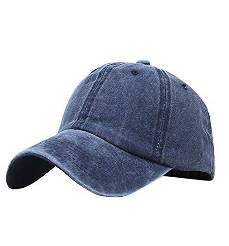 Pausseo Baseball Hat, Messy High Bun Ponytail Trucker Plain Baseball Visor Cap Adjustable Hat ()