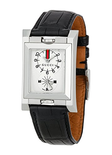 3eb3117a4df Gucci Men s  111′ Quartz Stainless Steel and Leather Casual Watch