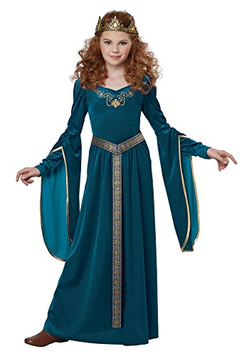 [Royal Blue Medieval Princess Kids Costume] (Queen Costumes For Girls)
