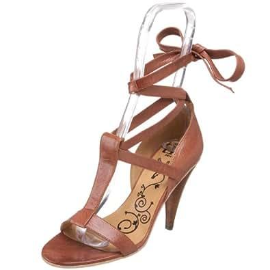 Tibi Women's Begonia T-Strap Sandal,Chestnut Tumbled Kid,6 M US