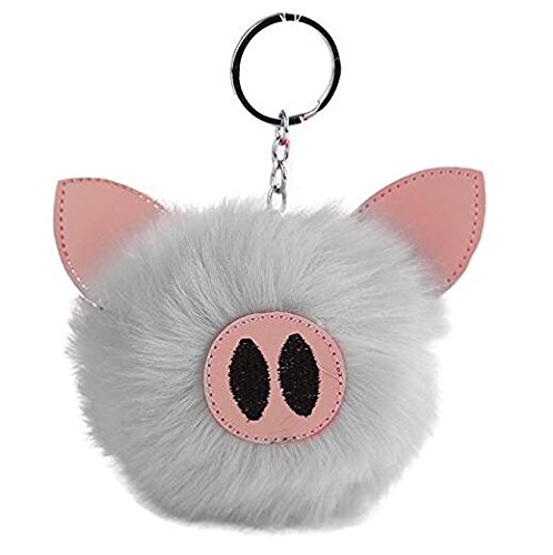 Gelaiken Pig Keychain Plush Embroidered Key Ring Jewelry Pendant Handbag ()