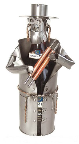 Rabbi Steel Wine Bottle Caddy is Made of Recycled Steel and Copper - 6024-LI - Rabbi Wine Bottle
