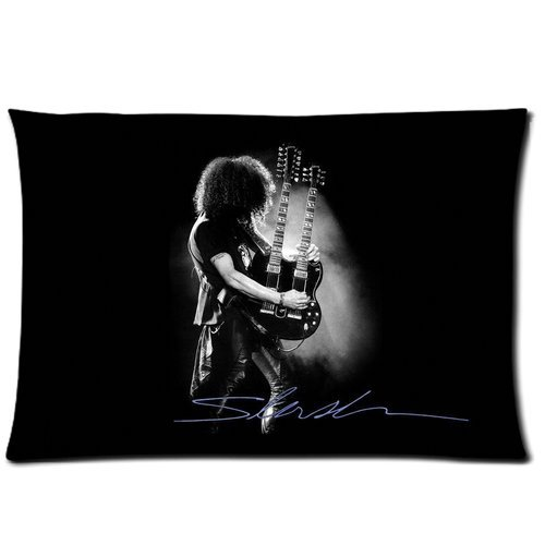 Slash Guns N Roses Rock Band Custom Pillowcase Cover Two Side Picture Size 16x24 Inch