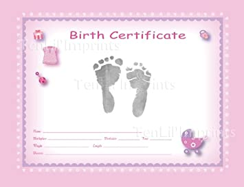 Amazon tenlilimprints birth certificate kit pinkblack tenlilimprints birth certificate kit pinkblack yadclub Image collections