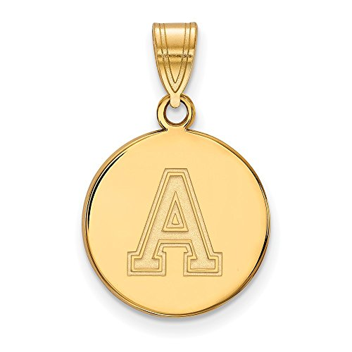 Roy Rose Jewelry Sterling Silver with 14K Yellow Gold-plated LogoArt U.S. Military Academy Medium Disc Pendant by Roy Rose Jewelry