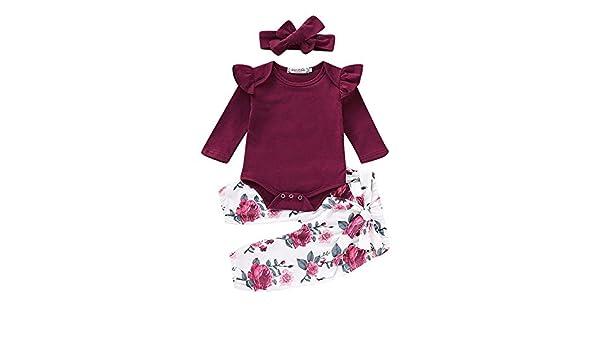 Wang-RX Infantil Niño recién Nacido Bebés Niñas Traje Floral de ...