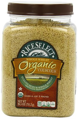 Couscous, 95% organic, Whole Wheat, 26.5 Oz (pack of 4 ) ( Value Bulk Multi-pack) by Riceselect Organic