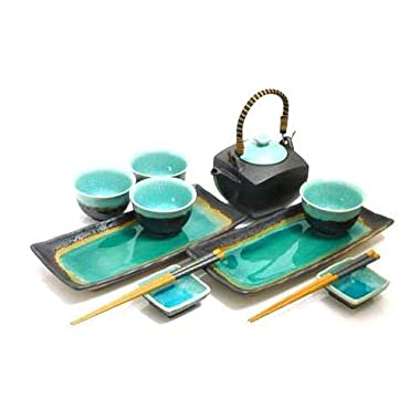 MySushiSet - 11 piece Ocean Breeze Sushi and Tea Set
