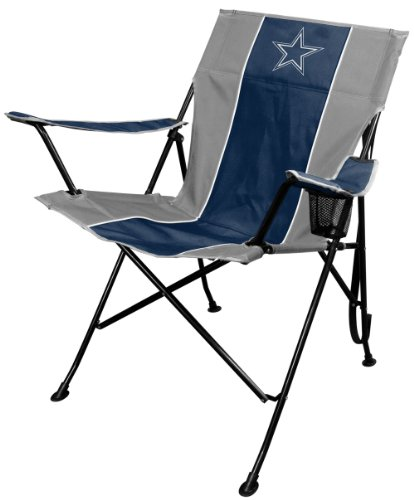 Rawlings NFL Portable Folding Tailgate Chair with Cup Holder and Carrying (Dallas Cowboys Merchandise)