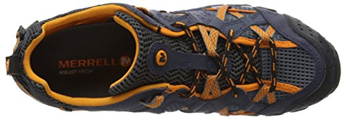 Merrell Waterpro Maipo Mannen Boot Sportschoenen, Blauw (marine / Oranje)