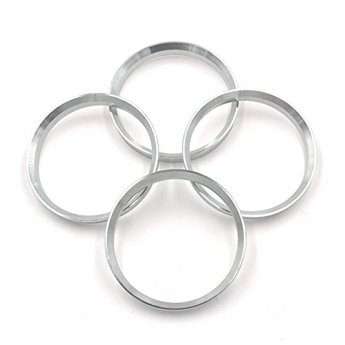 73.1mm OD to 67.1mm ID Hub Centric Rings, Silver Aluminum Hubcentric Rings for Many Hyundai Mitsubishi Kia Mazda, Pack of 4